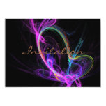 Pink Electric Fractal Personalised Invite