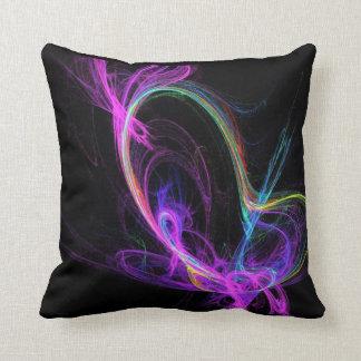 Pink Electric Fractal Pillows