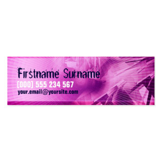 Pink Electro Scifi Profile Business Card