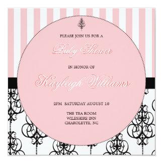 Pink Elegance Baby Shower Card