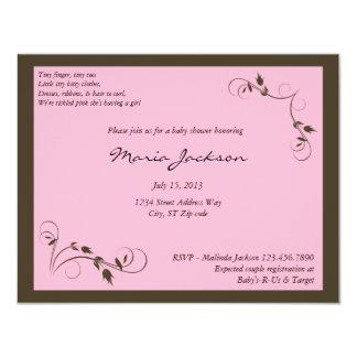 Pink Elegance Baby Shower Invitation