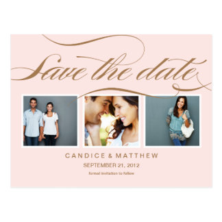 PINK ELEGANCE | SAVE THE DATE ANNOUNCEMENT POSTCARD