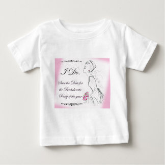 Pink elegant Bachelorette Party Design Baby T-Shirt