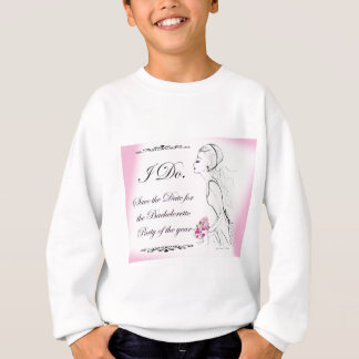 Pink elegant Bachelorette Party Design Sweatshirt