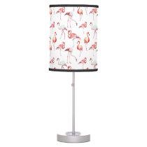 Pink Elegant Flamingo pattern Table Lamp