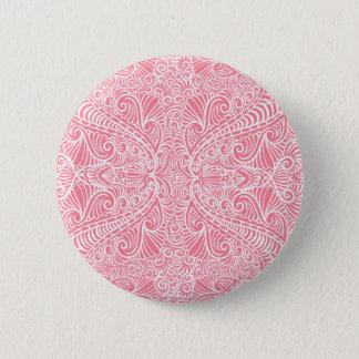 Pink Elegant flow Pinback Button