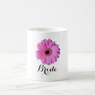 Pink Elegant Gerbera Daisy Classic White Coffee Mug