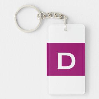 Pink Elegant Monogram Ver 13 M013 Keychain