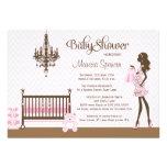 Pink elegant nursery baby girl shower invitation