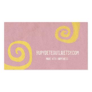 Pink Elegant Swirl Cards