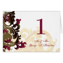 pink  Elegant table seating card