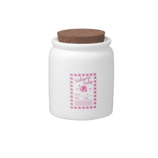 Pink Elephant Announcement Candy Dish