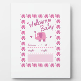 Pink Elephant Announcement Display Plaques