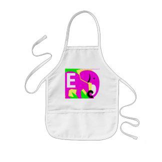 """Pink Elephant"" Kids' Apron"