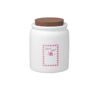 Pink Elephant Baby Announcement Candy Jars