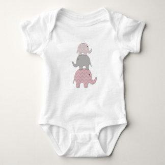 Pink Elephant baby bodysuit