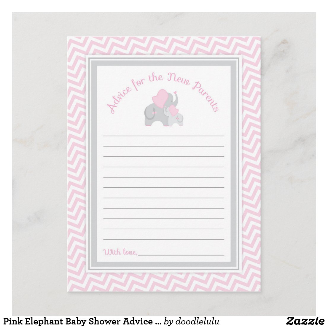 Pink Elephant Baby Shower Advice for New Parents