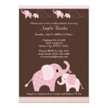 Pink ELEPHANT Baby Shower Invitation CE-P Kiss