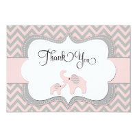 Pink elephant invitations announcements zazzle pink elephant baby shower thank you card filmwisefo Gallery