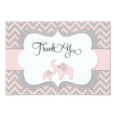 pink chevron elephant baby shower invitations   zazzle, Baby shower invitations