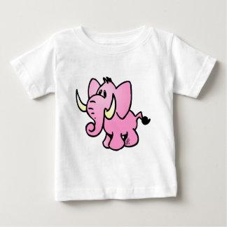 Pink Elephant Baby T-Shirt