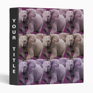 Pink Elephant 3 Ring Binders