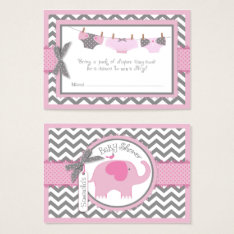 Pink Elephant Bird And Diaper Raffle Ticket at Zazzle