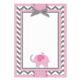 Pink Elephant Bird Blank Card