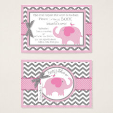 Pink Elephant Bird Bring A Book Card at Zazzle