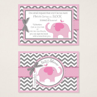 Pink Elephant Bird Bring a Book Card