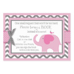 Pink Elephant Bird Bring a Book Card Large Business Card