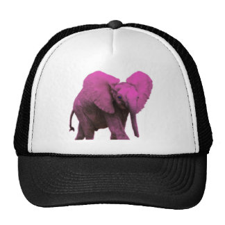 Pink Elephant Blue Eyes.png Trucker Hat
