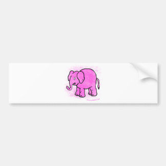 pink elephant bumper sticker
