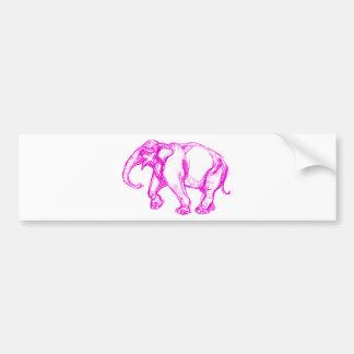 PINK ELEPHANT BUMPER STICKER