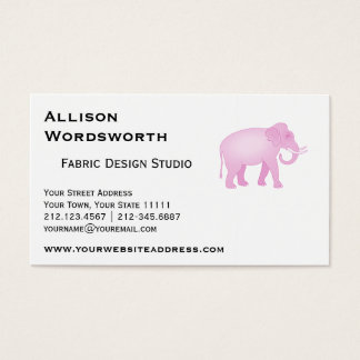 Pink Elephant Business Card