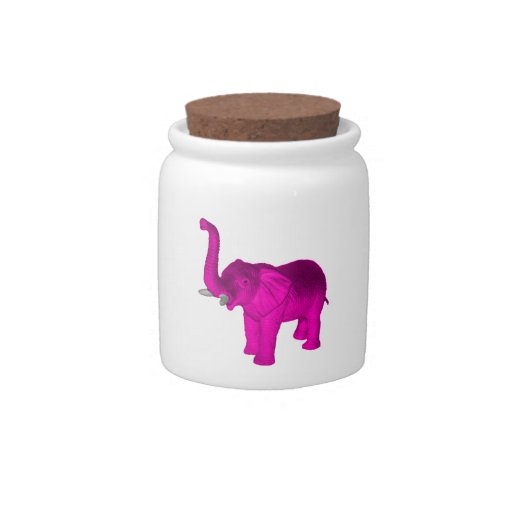 Pink Elephant Candy Dishes