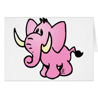 Pink Elephant Card