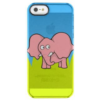 Pink elephant cartoon clear iPhone SE/5/5s case