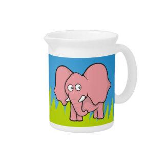 Pink elephant cartoon drink pitcher
