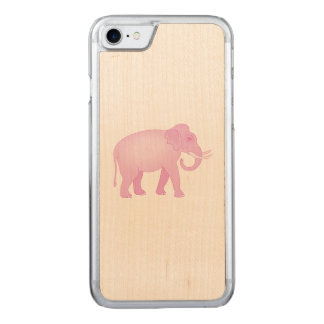 Pink Elephant Carved iPhone 8/7 Case