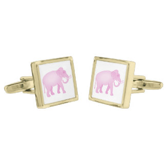 Pink Elephant Cufflinks