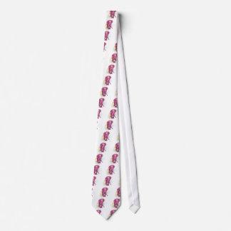 Pink Elephant draw - Sunset vector Neck Tie