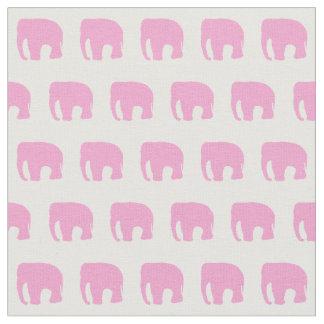 Pink elephants fabric zazzle for Childrens elephant fabric