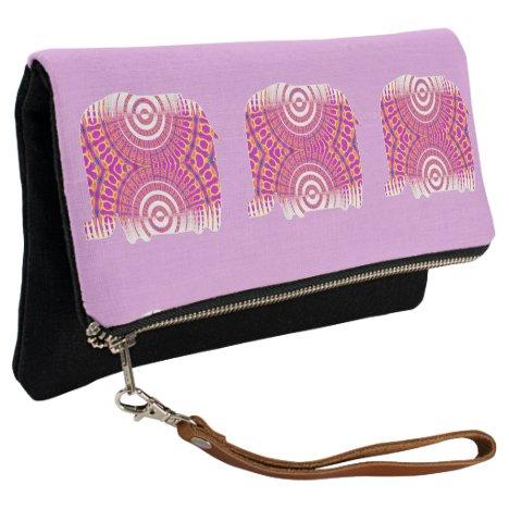 Pink Elephant Fold Clutch