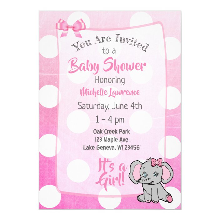 Pink Elephant S Baby Shower