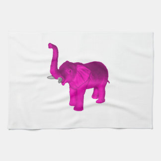 Pink Elephant Hand Towel