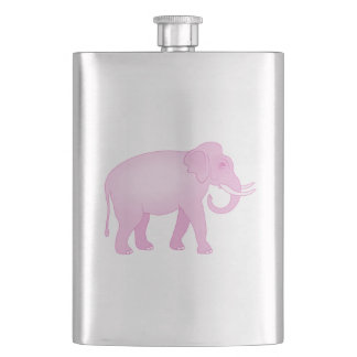 Pink Elephant Hip Flask