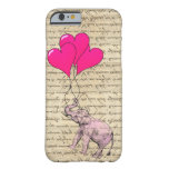 Pink elephant holding balloons iPhone 6 case