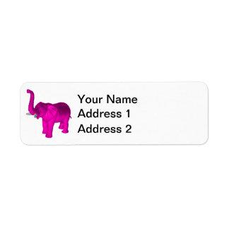 Pink Elephant Label