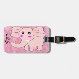 Pink Elephant Luggage Tag